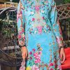 3pcs Embroidered Lawn Shirt Plain Trouser Chiffon Dupatta product (code: ar-07)