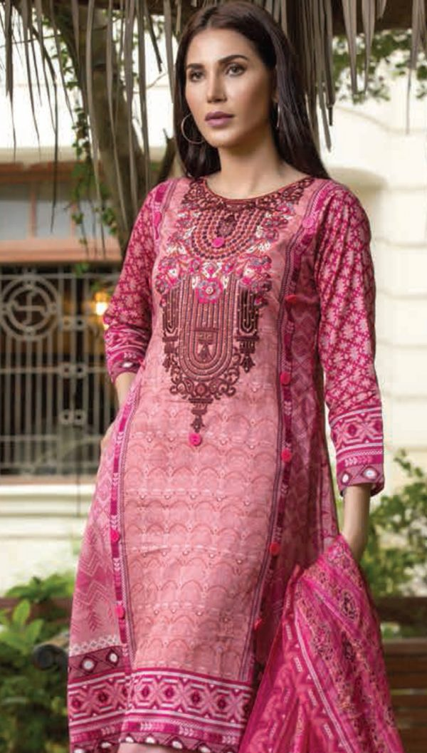 Falak Fabrics Cotton Embroidered Handwork Broshia Dupatta Collection 2018